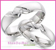 Nhẫn cặp, nhẫn bạc C15, Happy