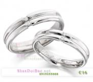 Nhẫn đôi, nhẫn bạc C16, Mắt yêu nồng ấm