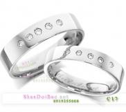 Nhẫn đôi, nhẫn bạc C17, Rain love