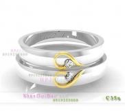 Nhẫn cặp, nhẫn bạc C35A, Tình yêu