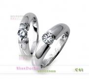 Nhẫn cặp, nhẫn đôi bạc C41, Mắt yêu nồng nàn