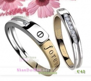 Nhẫn đôi bạc, nhẫn cặp bạc C42, Love Forever