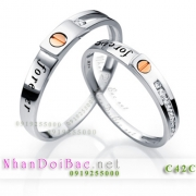Nhẫn bạc, nhẫn cặp C42C, forever love