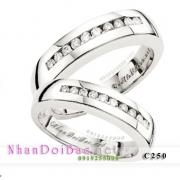 Nhẫn cặp, nhẫn bạc C250, Giọt nắng bình minh