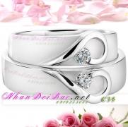 Nhẫn cặp, nhẫn bạc C35, My heart