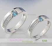 Nhẫn bạc, nhẫn đẹp, C45, Mắt ngọc