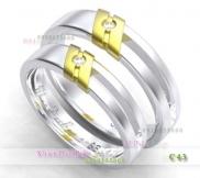 Nhẫn cặp, nhẫn bạc C43, Nắng tình yêu