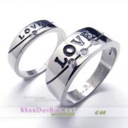 Nhẫn cặp, nhẫn bạc C49, Love