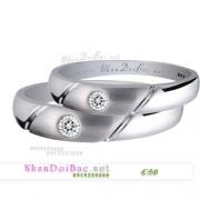Nhẫn cặp, nhẫn bạc C50, Yêu mình em
