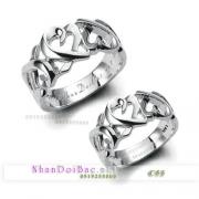 Nhẫn đôi bạc, nhẫn đẹp, C53, Luôn bên em