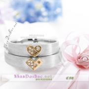 Nhẫn đôi, nhẫn cặp, C58, Mắt trái tim
