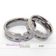 Nhẫn cặp, nhẫn bạc C60, Yêu nhé