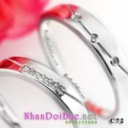 Nhẫn cặp, nhẫn bạc C72 - Mắt sương
