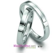Nhẫn cặp bạc C73, nhẫn đôi thầm lặng