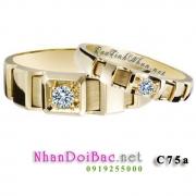 Nhẫn bạc đôi C75a - Bên nhau