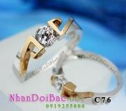 Nhẫn cặp, nhẫn bạc C76 - Lời hứa