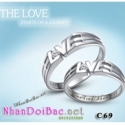 Nhẫn bạc, nhẫn đôi C69, The Love