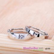 Nhẫn bạc, nhẫn cặp C77 - I love
