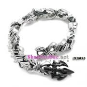 Vòng tay bạc, vòng tay nam DB090 - Iron Will