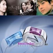 Nhẫn độc thân mặt đá dài R3 | Nhẫn bạc R3