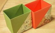 Gấp giấy thành nhiều kiểu hộp đựng đồ hữu ích