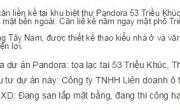 Đơn vị cần bán biệt thự liền kề dự án Pandora 53 Triều Khúc