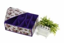 Hộp Đựng Đồ Lót Có Nắp 4 Ngăn Hình Hoa Nhều Màu