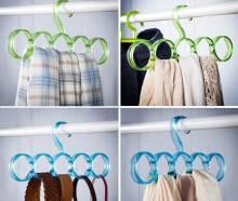 Combo 3 móc treo khăn thắt lưng cà vạt 5 vòng
