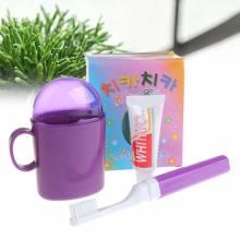 Bộ cốc bàn chải và kem đánh răng du lịch Hàn Quốc