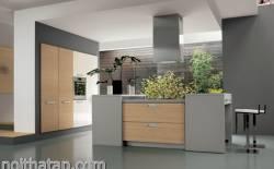 thiết kế phòng bếp và phòng ngủ theo phong cách hiện đại