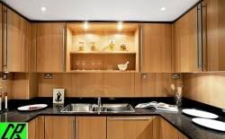 Nội thất gỗ cho phòng bếp sang trọng và ấm áp