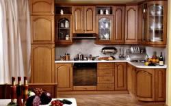 Tủ Bếp gỗ sồi Nga đẹp tuyệt cho gian bếp 01