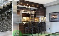 Tủ bếp quầy bar cho các căn nhà hiện đại