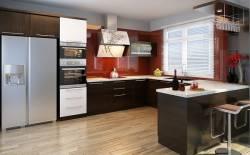 Tủ bếp chữ U vẫn có thể sử dụng cho những không gian nhỏ hẹp