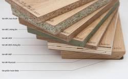 Các loại gỗ công nghiệp được dùng để đóng tủ bếp
