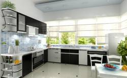 Tủ bếp acrylic - tủ bếp  thông minh cho không gian bếp chật hẹp.