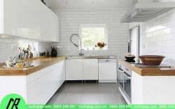 Tủ bếp nhựa chữ U sự lựa chọn cho một không gian bếp chật hẹp.