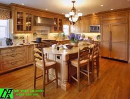 Tủ bếp gỗ sồi mỹ nhập khẩu