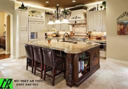 Tủ bếp phong cách châu âu, tủ bếp cổ điển