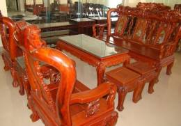 Bàn ghế phòng khách gỗ hương AP PK28