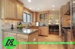 Tủ bếp gỗ tự nhiên 02