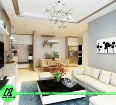 Thiết kế nội thất phòng 1506 chung cư Golden place- anh Tiến Đạt