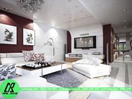 Thiết kế nội thất chung cư Hòa bình Green- chị Thảo