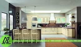 Mẫu tủ bếp nhà anh Huy- Lò Đúc