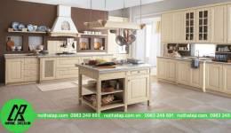 Mẫu thiết kế tủ bếp nhà anh Tuấn- Minh Khai