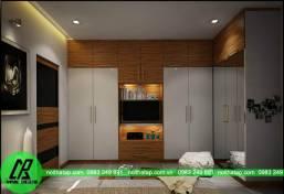 Thiết kế nội thất đơn giản tại chung cư Keang nam