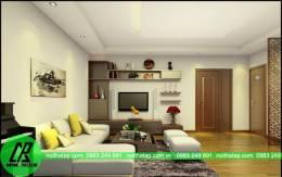 Thiết kế nội thất trẻ trung chung cư CT2 Ngô Thì Nhậm