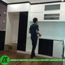 Thi công tủ bếp acrylic An Cường-  chị Lan