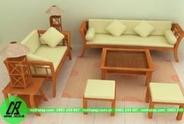 Sofa gỗ loại 5