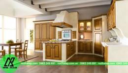 Thiết kế tủ bếp đẹp tuyệt cho anh Giáp- Thụy Khuê